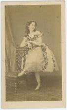 CDV circa 1865. L'actrice Ida Klein par Ulric Grob à Paris. Actress. Théâtre.