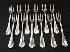 CHRISTOFLE SPATOURS 12 Pastry Forks Set 12 fourchette à gâteaux Brilliant Luster