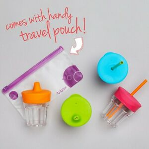 B.Box Silicone Lids Travel Pack/baby kids cup lids with straw