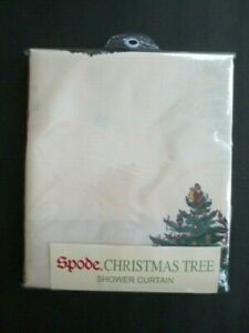 "Spode Christmas Tree Shower Curtain 72"" x 72"" - New"