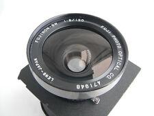 Fujinon (Fuji) SW 120mm/F 8.0 Objektiv, Seiko Verschluss, TOYO-View Lensboard
