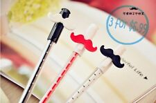 3 x Ultra Point Cute Mustache Needle Gel Pen/Gift Pen Durable/Smooth writing