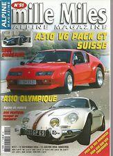 MILLE MILES N° 51 NOV 05 /JANV 2006 : ALPINE 310 V6 PACK GT A 110 OLYMPIQUE