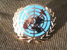UN United Nations Blue Lapel Military Badge