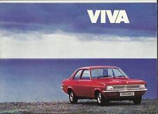 VAUXHALL VIVA E, 1300L, 1300SL AND ESTATES SALES BROCHURE DECEMBER 1975 FOR 1976