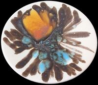 Unusual Small Poole Pottery Studio Delphis Dish / Tray With Abstract Design