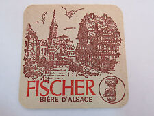 Beer Bar Pub Coaster <> Fischer Pêcheur <*> Alsace, Germany <*>  RETIRED Brewery