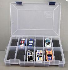 HO Slot Car Storage Case - Holds 12 Cars (Dark Gray) Tyco, AFX, Life-Like - 1:64
