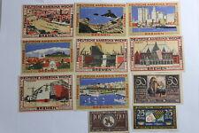 GERMANY BREHNA & BREMEN 11 BANKNOTES B19 #182