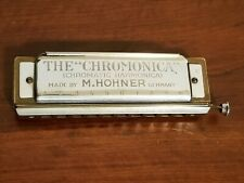 Vintage 1930's Chromonica harmonica By M. Hohner in Germany. Vg to Ex cond.