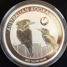 2017 1 oz Australian Kookaburra with Rooster Privy  PURE .999 Silver Coin