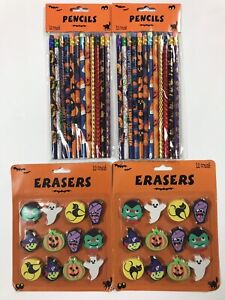 A Lot Of Halloween 2/12 Count Pencils & 2/12 Count Erasers