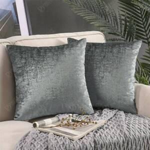 Grey Metallic Velvet Pillow Cover, Velvet Throw Pillow, Throw Pillow Cover,