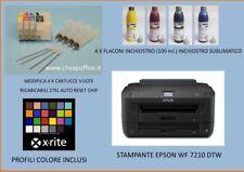 EPSON WF 7210 DTW STAMPANTE A3-SUBLIMAZIONE+INCHIOSTRI -CISS E PROFILO COLORE
