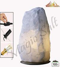 Lámpara de Sal Himalaya blanco natural de 7-9 kg con todos los Accesorio Regalo De Navidad