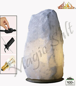 Natural  White Himalayan Salt Lamp 7-9 KG With All Fitting  Christmas present