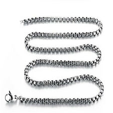 Box Gifts Fashion Jewelry Chain Stainless Steel Necklace Square Pearl Chains