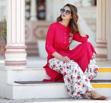 Indian Elegant Super Hit Palazzo Kurta Beautiful Flower Floral Kurti Palazzo