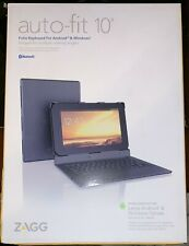 """Zagg Auto-Fit 10"""" Folio Keyboard For Large Android & Windows Tablets Black NEW"""