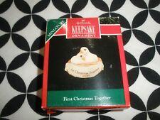 Vintage 1990 Christmas! Mini Hallmark Ornament, 1St Christmas Together ~N25