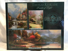 2002 Pre-owned Thomas Kinkade 550/100/700 Piece Puzzles Opened Box 3 In One Box
