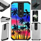 FUSION Case For ONYX TCL A1X A503DL+TEMPERED GLASS Phone Cover SUNSET PALM TREE