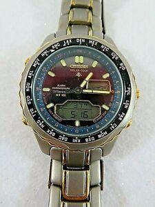 Citizen Eco-Drive Titanium World Timer Model:C605-Q00567-TA  Men's Watch