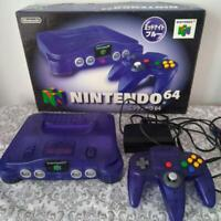 Nintendo 64 N64 Console System Midnight Blue From Japan with box