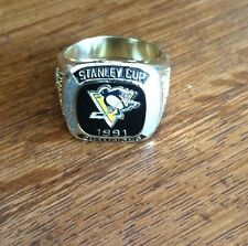 Molson Canadian stanley cup Pittsburgh Penguins  1991 Championship Ring.