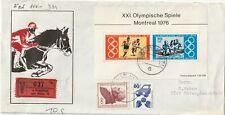 1976 Germany cover from Frankfurt am Main to Unterpleichfeld