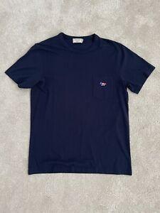 Maison Kitsune Blue Pocket T Shirt Size Large
