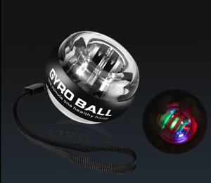 LED Light AutoStart Wrist Ball Gyroscope Force Train Arm Exercise Ball Xmas Gift