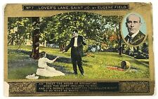 No 7 Lovers Lane Saint Jo By Eugene Field Golden Image Vintage Postcard