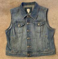 LC Lauren Conrad Womens M Demin Vest