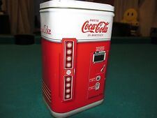 Drink Coca Cola In Bottles COKE Tin Vending Machine Bank