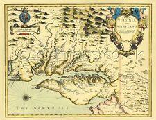 Virginia & Maryland réplique John vitesse 17 quater vieille carte pleine taille copie imprimée