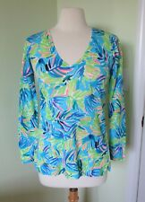 Lilly Pulitzer Liesel Sweater NWT Multi Serenity Now SMALL S 100% linen