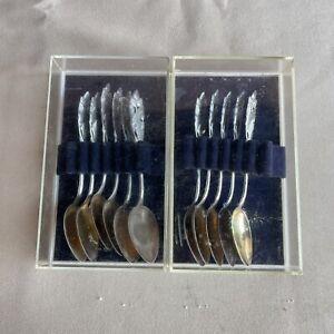Vintage Kultakeskus OY Finland Demitasse Spoons - 830 silver Lot Of 11