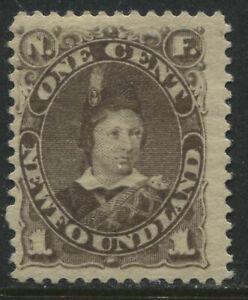 Newfoundland 1880 1 cent grey brown mint o.g.