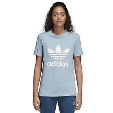Cv9891 T-shirt adidas – Trefoil Blu/bianco 2018 Donna cotone NUEVO 48 L (large) Non applicabile