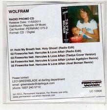 (FF152) Wolfram, Hold My Breath / Fireworks - 2011 DJ CD