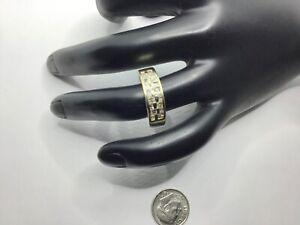 Men's 14K Yellow Gold And 1.20+ CTW Diamonds Band Ring Sz 9.5, 6.6 Grams