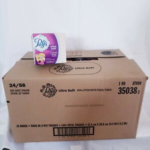 24 boxes Puffs Ultra Soft Comforts Needy Noses Tissues 56 2ply Tissues