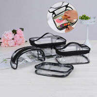 Waterproof PVC Zip Pouch Kit Transparent Bag Travel Cosmetic Wash Bag Storage EM