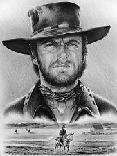 Quadro con disegno Clint Eastwood western Sergio Leone