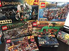 HUGE LEGO Lot of 7 LotR/Hobbit Sets 79003 Bag's End 9476 9470 Gandalf +More
