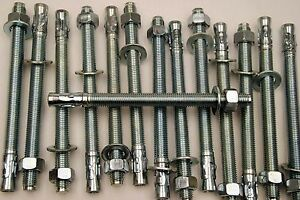 (6) Concrete Wedge Anchor Bolts 3/4 x 10 Includes Nuts & Washers