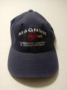 Magnum Corrosion Control & Transportation Blue Flex Fit Hat Cap Size S/M