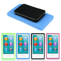 New TPU Rubber Gel Soft Case Cover Belt Clip For iPod Nano 7 7G 7th Gen In Stock