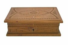 Vintage Frisian Chip Carved Presentation Box. Dutch.